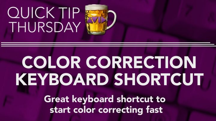 Color Correction Keyboard Shortcut in AVID
