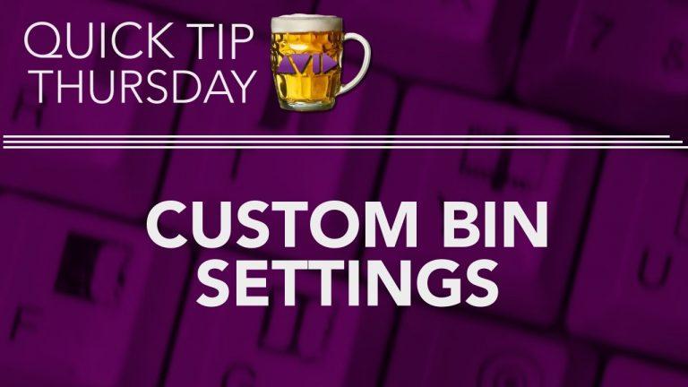 Set Up Custom Bin Settings in AVID