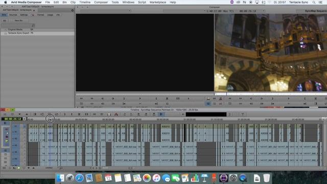 Tentacle Sync Studio AAF Workflow for Avid Media Composer