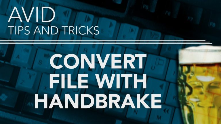 Convert Video File With Handbrake For Free