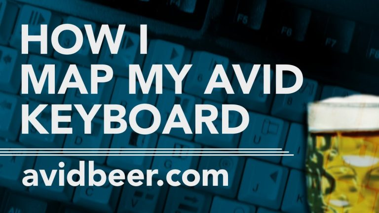 How I Map My AVID Keyboard