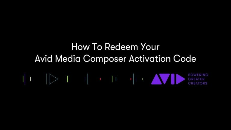 How To Redeem Avid Media Composer Activation Code