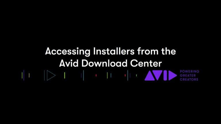 Accessing Installers from Avid Download Center