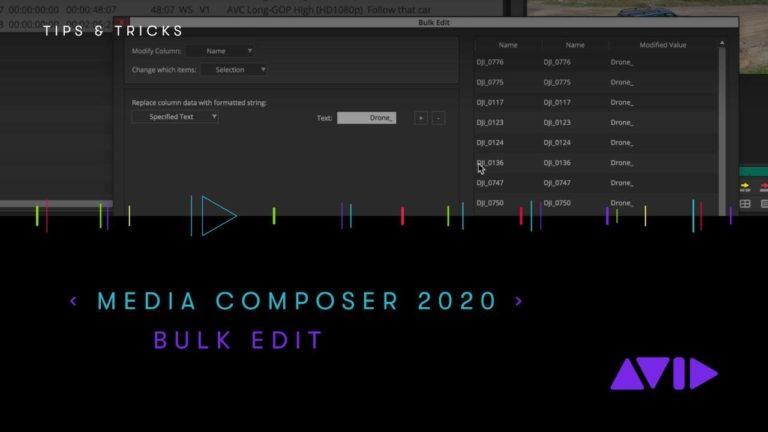 Avid Media Composer 2020.4 – Bulk Edit