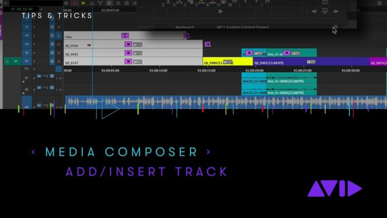 Avid Media Composer — Add/Insert Track