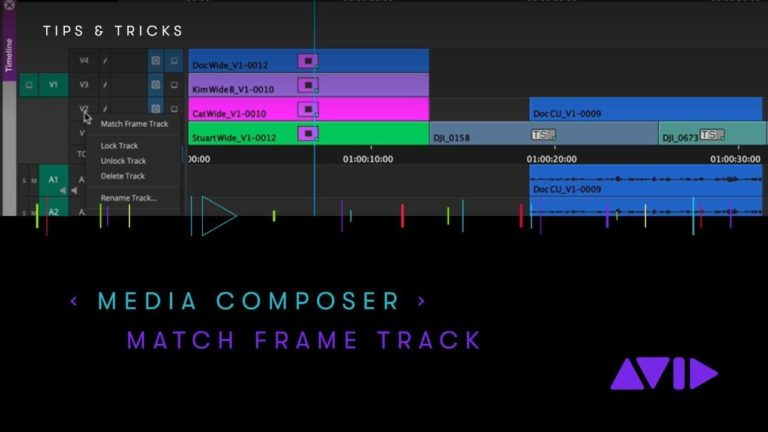Avid Media Composer Tips and Tricks – Match Frame Track