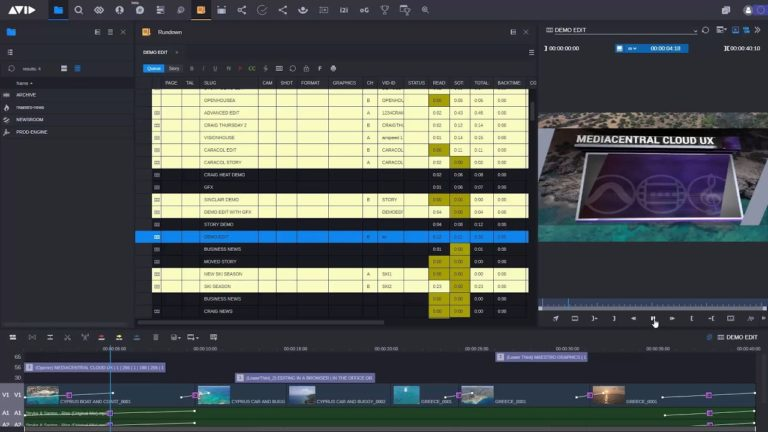 Avid News 2020 — MediaCentral | Cloud UX from Ingest to Playout