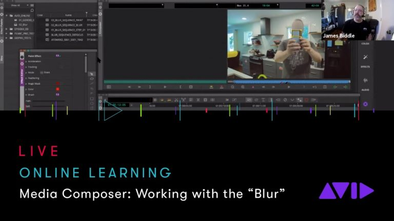 "Avid Online Learning — Media Composer: Working with the ""Blur"""