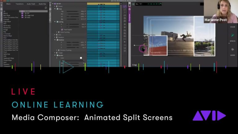 Avid Online Learning — Media Composer: Create an animated split screen using Picture in Picture