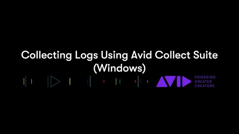 Collecting Logs Using Avid Collect Suite (Windows)