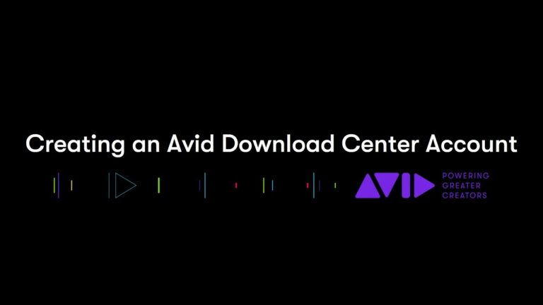 Creating An Avid Download Center Account