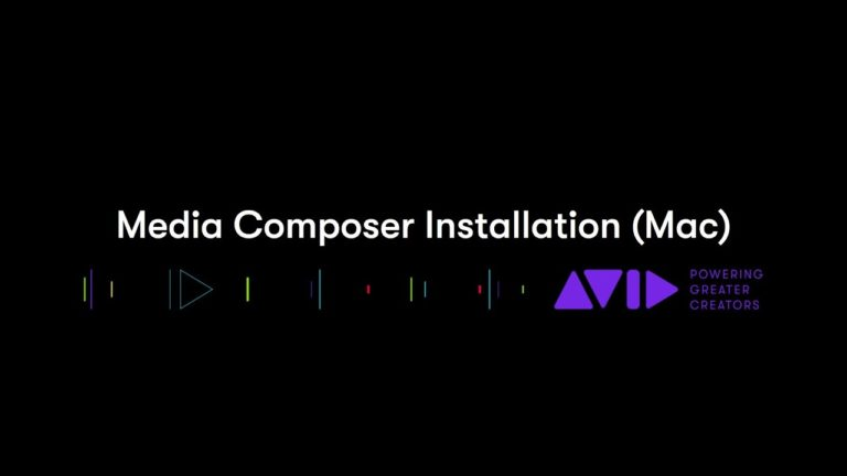 Media Composer Installation (Mac)