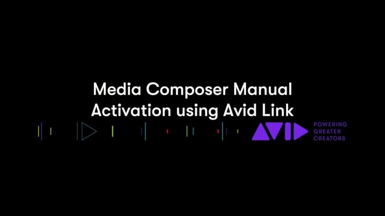 Media Composer Manual Activation Using Avid Link