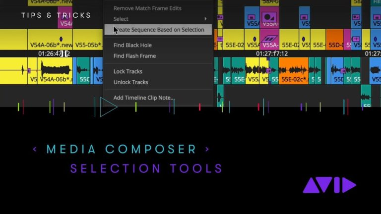 Avid Media Composer — Selection Tools in the Timeline