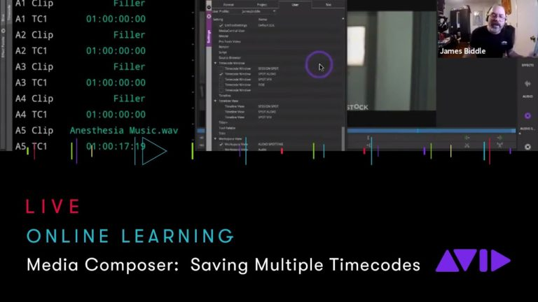 Avid Online Learning — Media Composer: Saving Multiple Timecodes