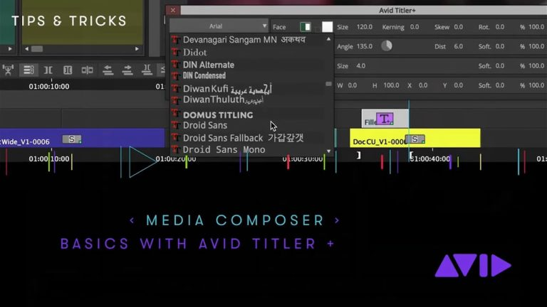 Media Composer — Basics with the Avid Titler +