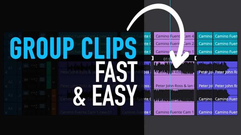 How to Group Clips fast (Multicam) – Avid Media Composer Tutorial