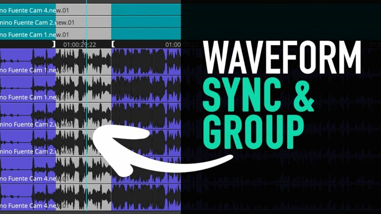 How to Sync and Group Clips via Waveform (Multicam) – Avid Media Composer Tutorial