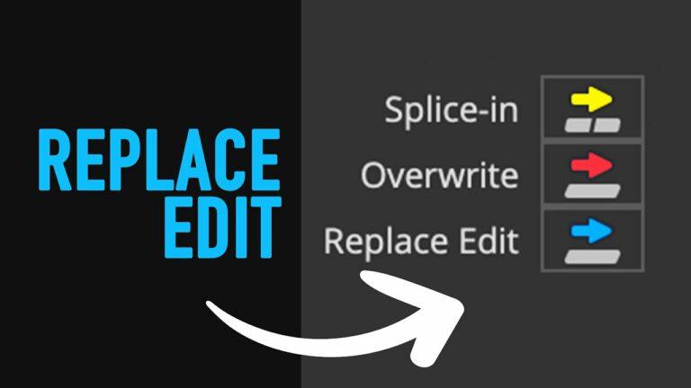 Replace Edit – Avid Media Composer Tutorial