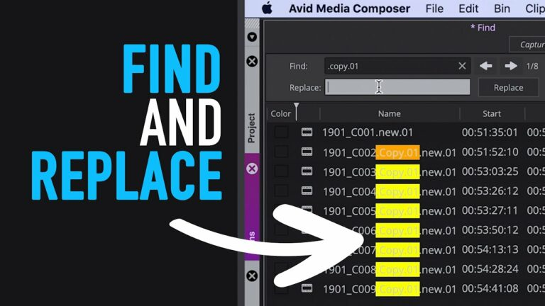 What's New in Avid Media Composer 2020: Find and Replace Tool – Tutorial