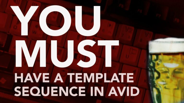 You Must Have A Template Sequence in AVID