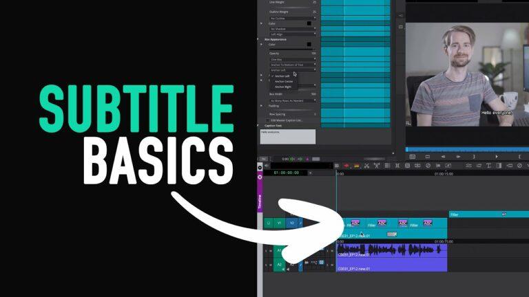 Avid Crash Course: How to create Subtitles (SubCap) – Avid Media Composer Tutorial