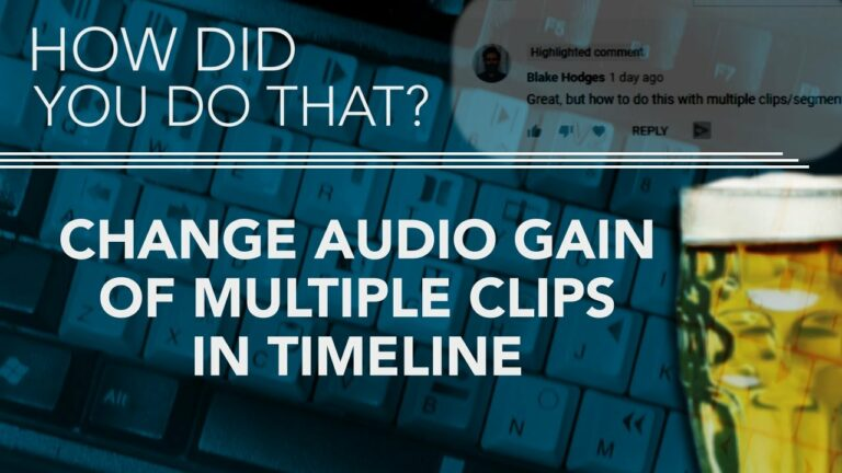 Change Audio Volume Of Multiple Clips In AVID Timeline
