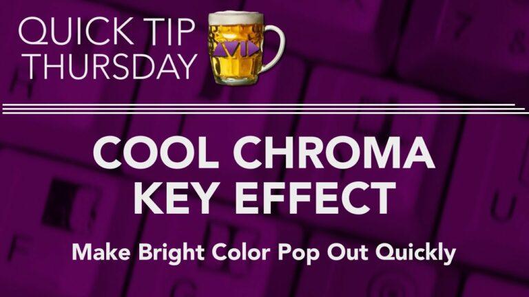 Cool Chroma Key Effect in AVID