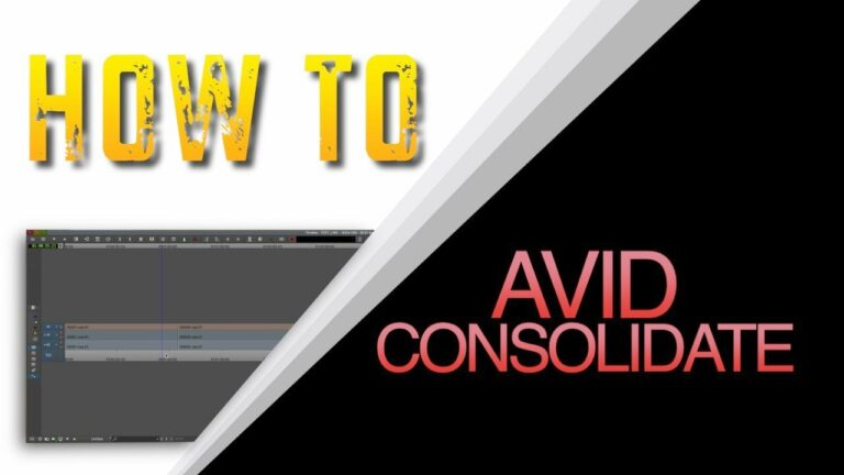 How to Consolidate in Avid