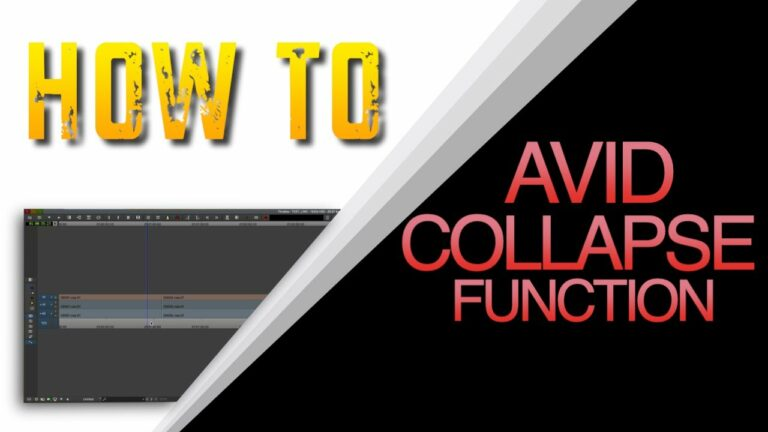 How to use Avid Collapse function & Composite Matte & Fills
