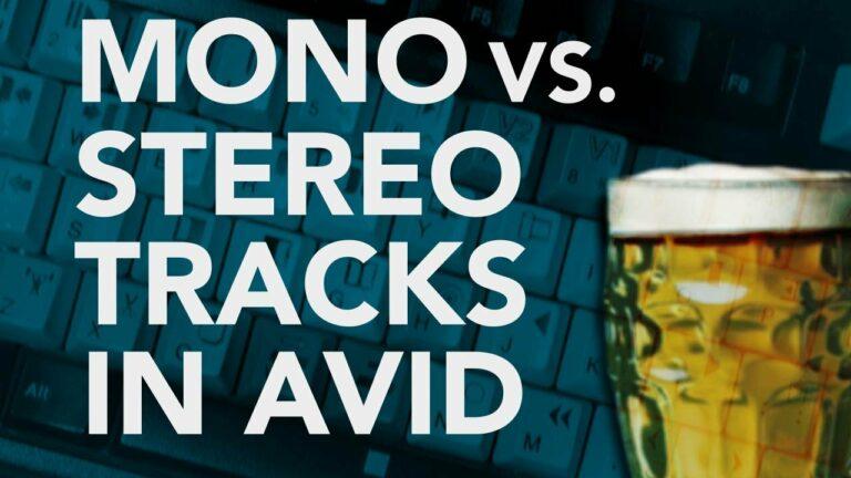 Mono Vs. Stereo Tracks in AVID