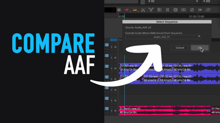 What's New: AAF Export: Compare Two Sequences – Avid Media Composer Tutorial