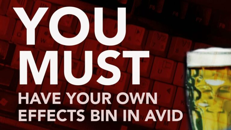 You Must Have Your Own Effects Bin in AVID!
