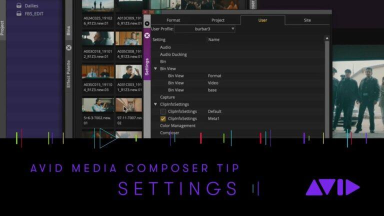 Avid Media Composer Tip – Settings