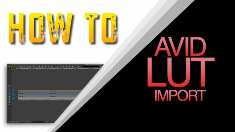 How to create and import LUTs in Avid