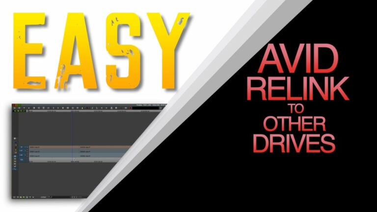 How to relink Avid Media to other drives