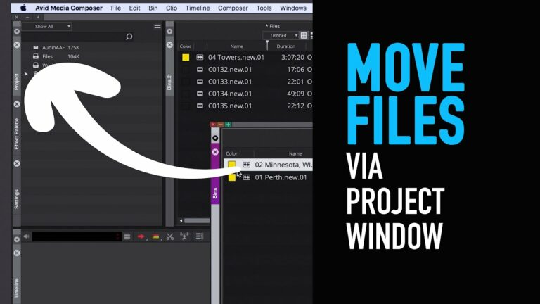 What's New: Move Files Through Project Window – Avid Media Composer Tutorial