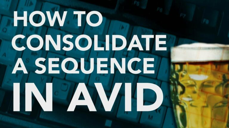 How To Consolidate a Sequence in Avid